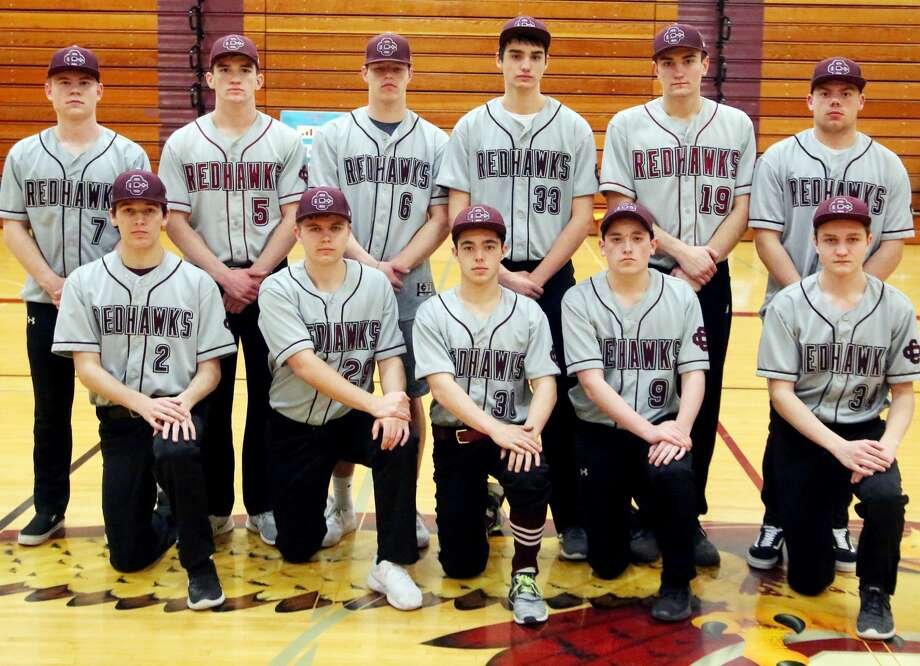 Members of the Cass City varsity baseball team are (front row from left) Kendal Anthes, Kenton Wiseman, Tristan Swiderski, Tyler Czekai and Mallakii Moore (back row) Hadyn Horne, Luke Stern, Sandyn Cuthrell, Landon Schenk, Zack Beecher and Collen Wrubel.  Cass City Baseball 2 Kendal Anthes 5 Luke Stern 6 Sandyn Cuthrell 7 Hadyn Horne 9 Tyler Czekai 11 Collen Wrubel 19 Zack Beecher 29 Kenton Wiseman 30 Tristan Swiderski 33 Landon Schenk 34 Mallakii Moore Head Coach Josh Stern  Schedule April 9 vs. Marlette April 12 at Memphis April 13 Tuscola County Tournament at Millington April 15 at Capac April 18 at Bad Axe* April 23 at Sandusky April 25 vs. Vassar* April 29 at Ubly May 2 vs. USA* May 6 at Brown City May 9 vs. Harbor Beach May 13 at EPBP* May 17 vs. Caro* May 22 at Reese* May 29 Division 3 District at EPBP June 1 Division 3 District at EPBP Photo: Paul P. Adams/Huron Daily Tribune
