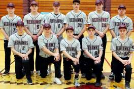 Members of the Cass City varsity baseball team are (front row from left) Kendal Anthes, Kenton Wiseman, Tristan Swiderski, Tyler Czekai and Mallakii Moore (back row) Hadyn Horne, Luke Stern, Sandyn Cuthrell, Landon Schenk, Zack Beecher and Collen Wrubel. Cass City Baseball  2 Kendal Anthes 5 Luke Stern 6 Sandyn Cuthrell 7 Hadyn Horne 9 Tyler Czekai  11 Collen Wrubel 19 Zack Beecher 29 Kenton Wiseman 30 Tristan Swiderski 33 Landon Schenk 34 Mallakii Moore Head Coach Josh Stern Schedule  April 9 vs. Marlette  April 12 at Memphis  April 13 Tuscola County Tournament at Millington  April 15 at Capac April 18 at Bad Axe* April 23 at Sandusky  April 25 vs. Vassar* April 29 at Ubly  May 2 vs. USA* May 6 at Brown City  May 9 vs. Harbor Beach  May 13 at EPBP* May 17 vs. Caro* May 22 at Reese* May 29 Division 3 District at EPBP  June 1 Division 3 District at EPBP