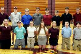 Members of the Cass City golf team are (front row from left) Taryn Pisarek, Matt Roth, Mia Wright, Imogen Sanders, Mariah Mellendorf, Jeffrey Mathewson and Quincy Creason (back row) coach Jon Ligrow, Ryan Pisarek, Adam Habicht, Anthony Pawloski, Rees Romain, Alex Swiderski, Quentin Rick and Trevor Warren. Cass City Golf  Taryn Pisarek Matt Roth Mia Wright Imogen Sanders Mariah Mellendorf Jeffrey Mathewson Quincy Creason Ryan Pisarek Adam Habicht Anthony Pawloski Rees Romain Alex Swiderski Quentin Rick  Trevor Warren Head Coach Jon Ligrow Schedule  April 25 Caro Jamboree April 26 Ubly Invitational  April 29 Vassar Jamboree April 30 USA Jamboree May 6 Bad Axe Jamboree May 7 Cass City Jamboree May 10 EPBP Jamboree May 15 Brown City Invitational  May 17 Warner Memorial Invitational at Vassar  May 20 GTC League Meet at Ubly  May 22 Mayville Invitational  May 29 Regional at Verona Hills
