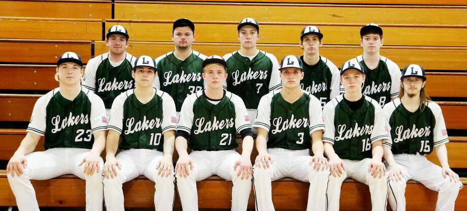 Members of the Elkton-Pigeon-Bay Port varsity baseball team are (front row from left) Preston Warren, Clayton Troup, Andrew Siegfried, Adam LeGault, Bryce Sears and Ethan Guster (back row) Mitchell Richmond, Ryan Castro, Anthony Sheridan, Jayvien Wolschlager and Jax McCabe. Missing is Karson Binder. EPBP Baseball 3 Adam LeGault 5 Jayvien Wolschlager 8 Jax McCabe 10 Anthony Sheridan 15 Ethan Guster 16 Bryce Sears 17 Mitchell Richmond 21 Andrew Siegfried 23 Preston Warren 39 Ryan Castro Clayton Troup Karson Binder Head Coach Ron Dubs Schedule April 12 vs. Sandusky April 13 Thumb Tournament at Millington April 15 vs. Harbor Beach April 18 at Caro* April 23 at Ubly April 25 at Reese* April 29 at Brown City May 2 vs. Yale May 4 Shepherd Invitational May 6 vs. Capac May 8 at USA* May 10 at Frankenmuth May 13 vs. Cass City* May 17 vs. Bad Axe* May 18 Maple City Glen Lake Tournament May 20 at Marlette May 23 vs. Vassar* May 29 Districts at EPBP May 31 Districts at EPBP *League Game   Photo: Paul P. Adams/Huron Daily Tribune