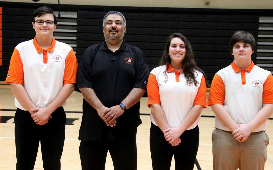 Members of the Harbor Beach golf team are (from left) Dylan Burton, coach Dan Gonzales, Teresa Razo and Gavin Iseler.  Harbor Beach Golf Dylan Burton Teresa Razo Gavin Iseler  Coach Dan Gonzales  Schedule April 22 Brown City Jamboree April 25 Ubly Jamboree April 26 Ubly Invitational April 29 Harbor Beach Jamboree May 2 Sandusky Jamboree May 6 Capac Jamboree May 15 Brown City Invitational May 20 GTC League Tournament at Scenic Golf & Country Club May 31 Regional at Verona Hills Golf Club Photo: Mike Gallagher/Huron Daily Tribune