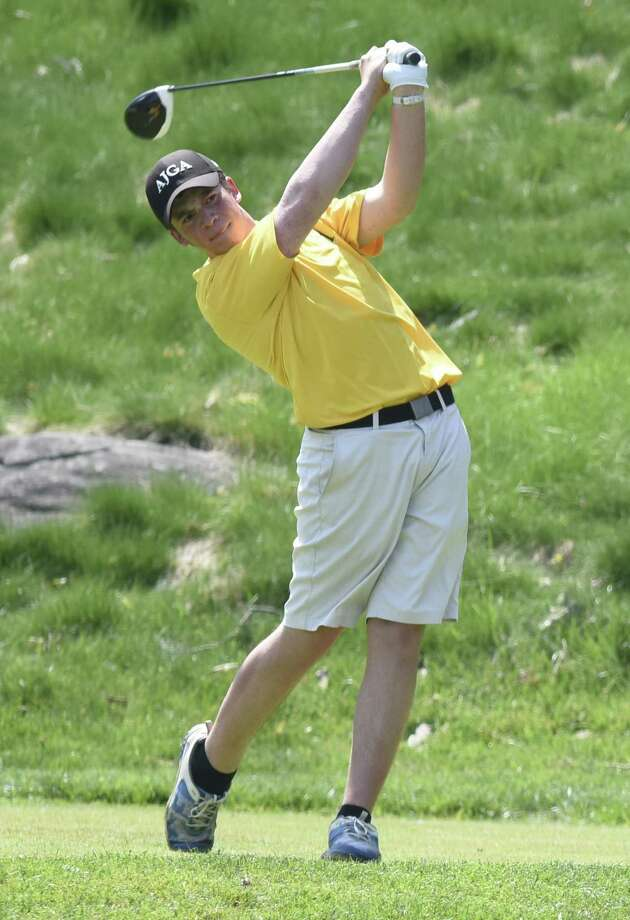 Hamden's Alex Aurora competes in the Greenwich Invitational on May 3 at Greenwich Country Club. Photo: Tyler Sizemore / Hearst Connecticut Media / Greenwich Time