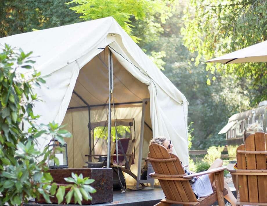 A tent at Autocamp in Yosemite. Photo: Autocamp