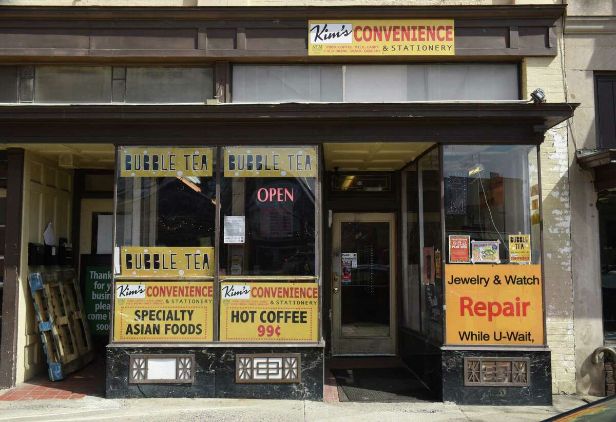 Exterior of Kim's Convenience on Thursday, April 4, 2019 in Troy, N.Y. Quang's Vietnamese Bistro is located in the back of this bodega. (Lori Van Buren/Times Union)