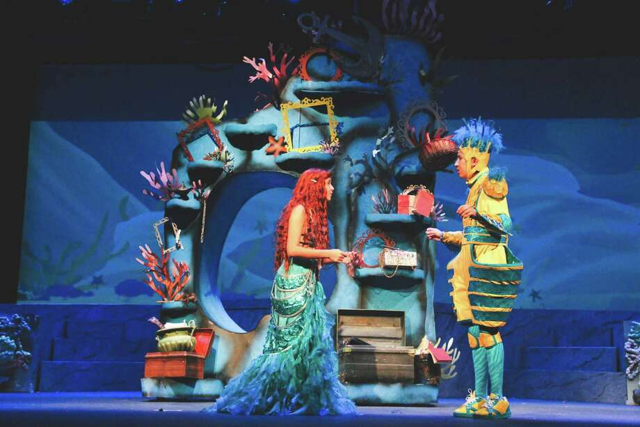 "Cypress Ranch junior Mireya Velasquez is a 2019 Tommy Tune Award nominee for Best Actress. Here, Velasquez as Ariel and junior Joshua Nguyen as Flounder, perform a scene together in ""Disney's The Little Mermaid"". Photo: Courtesy Of Cy-Fair ISD"