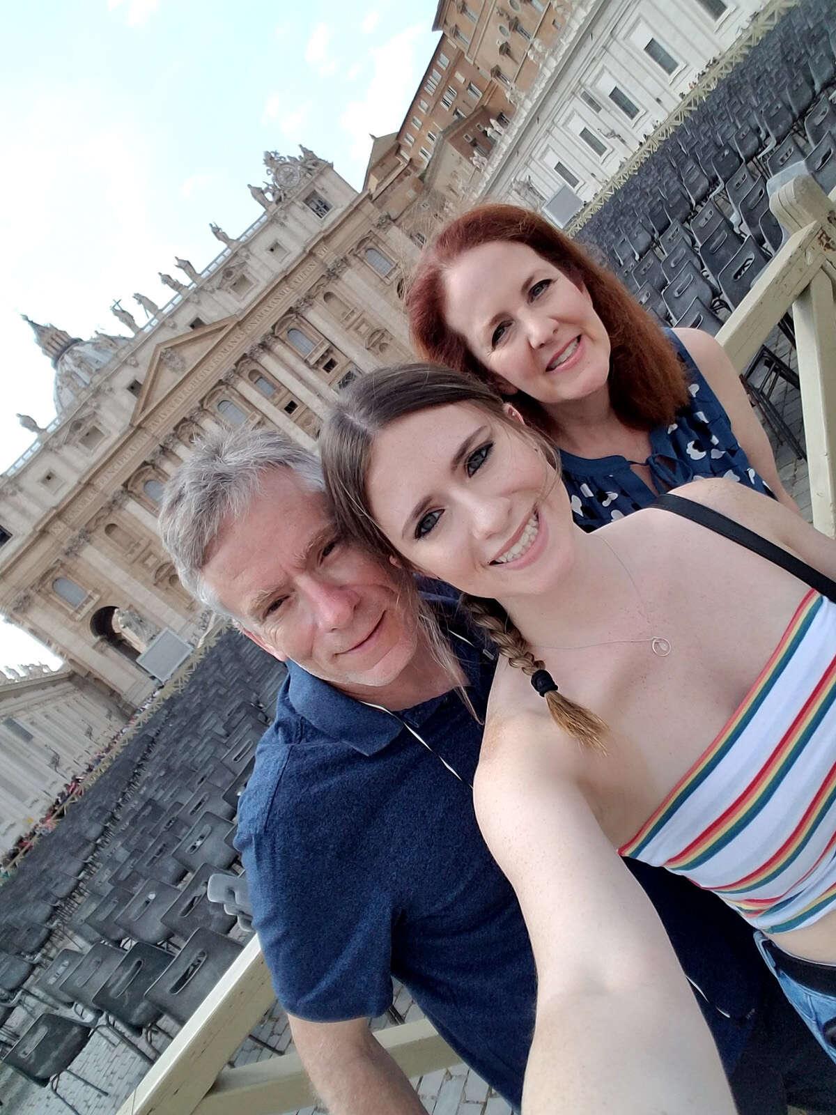 The Shenfelds outside of St. Peter's Basilica in Vatican City. (Samantha Shenfeld/Chicago Tribune/TNS)