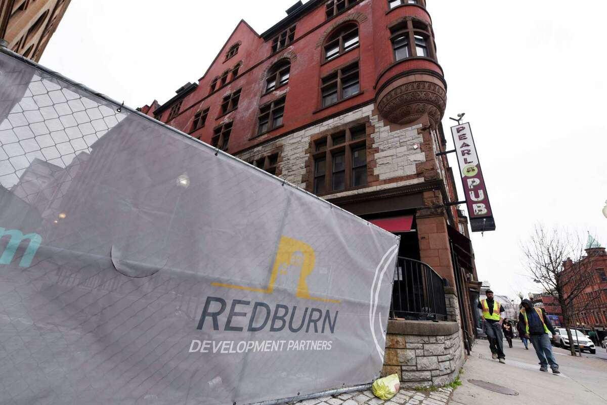 The old Steuben Athletic Club, and other property along North Pearl Street, are being redeveloped into apartments and commercial space by Redburn Development Partners on Friday, April 5, 2019, in Albany, N.Y. (Will Waldron/Times Union)