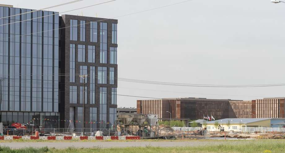 Anadarko Petroleum Permian Basin headquarters, seen 04/12/19  on the left are still under construction just down Deauville Blvd from Chevron's Permian headquarters. Tim Fischer/Reporter-Telegram Photo: Tim Fischer/Midland Reporter-Telegram