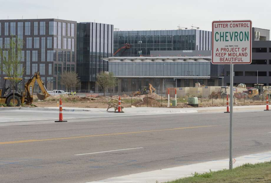 Anadarko Petroleum Permian Basin headquarters are still under construction just down Deauville Blvd from Chevron's Permian headquarters. 04/12/19  Tim Fischer/Reporter-Telegram Photo: Tim Fischer/Midland Reporter-Telegram
