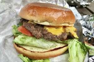 Burns Burger with American cheese at Burns Burger Shack