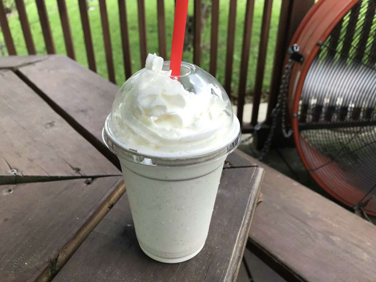 Vanilla bean shake at Burns Burger Shack