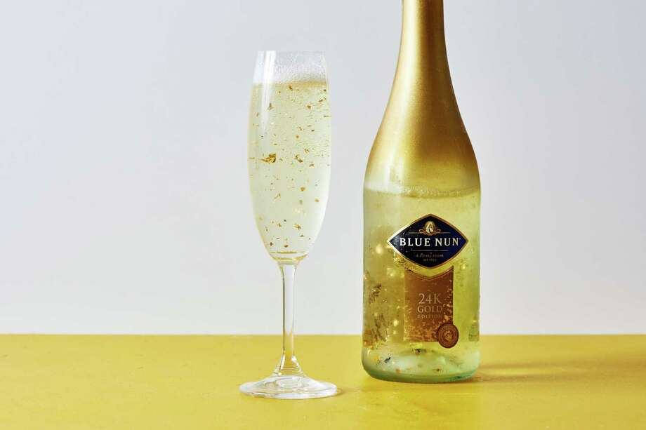 Blue Nun 24 carat gold sparkling wine. Photo: Photo By Stacy Zarin Goldberg For The Washington Post / For The Washington Post