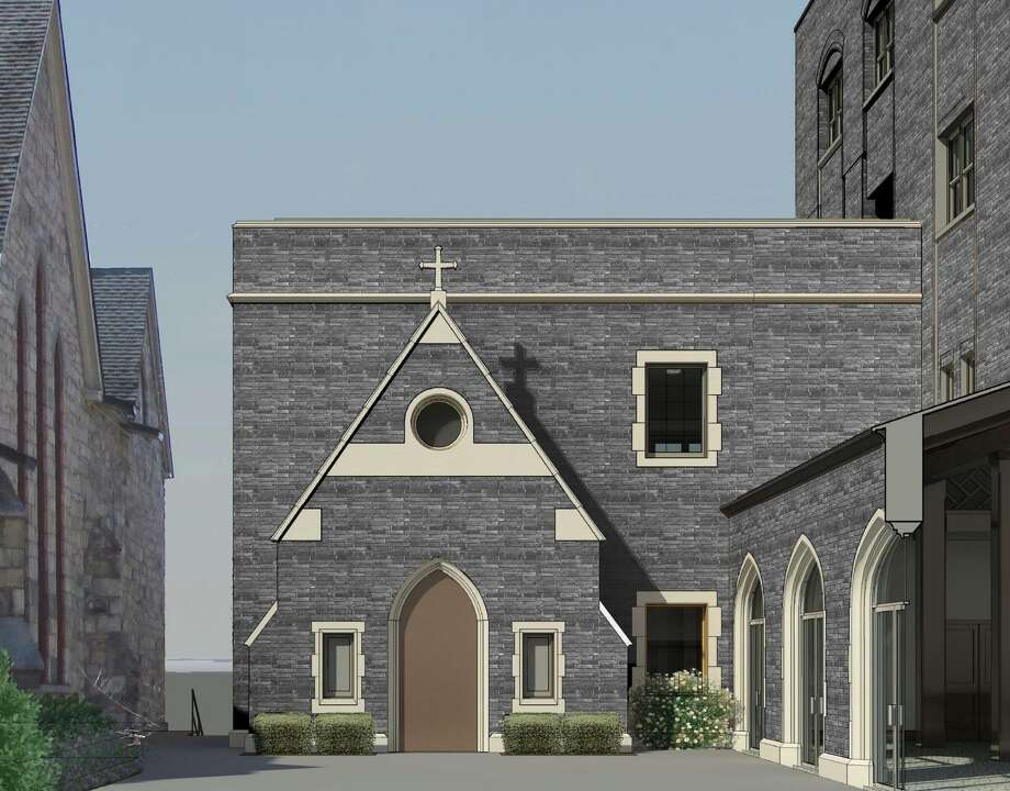 This is a rendering of the Mercy House, a newly established nonprofit in Saratoga Springs that will serve the homeless and track's backstretch workers. Photo: Provided By Bethesda Episcopal Church