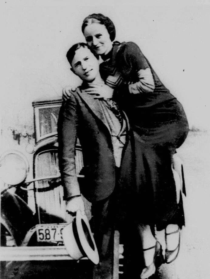 This is an undated photo of Clyde Barrow and Bonnie Parker, who spent some of their short lives in the Dallas area. The Legend of Bonnie and Clyde bus tour is a once-a-year event sponsored by the Dallas Historical Society which offers glimpses of the outlaws' lives through anecdotes and visits to sites of key events in the Dallas area. Photo: Associated Press / AP