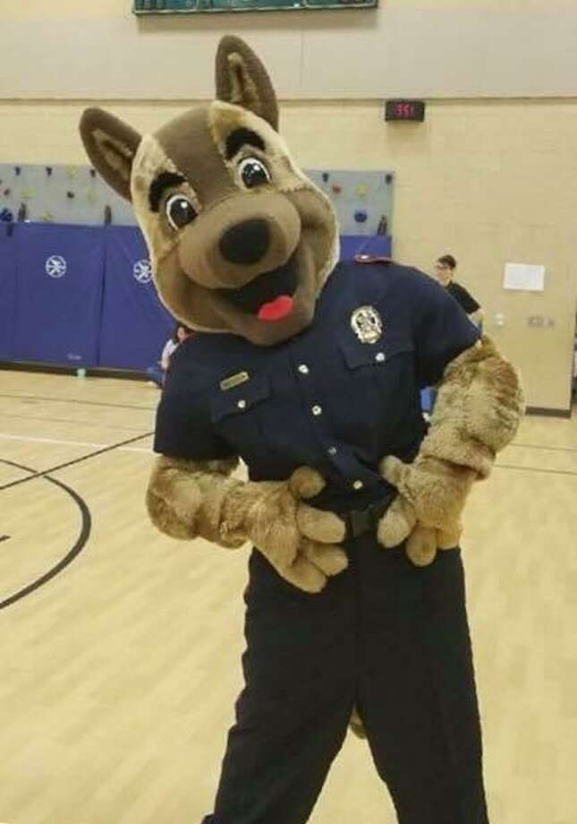 The Fulshear Police Department's mascot is called Sgt. McCann. The mascot will accompany officers on April 25 as part of the Bring Cheer Drive at Texas Children's Hospital-West Campus. Photo: Fulshear Police Department / Fulshear Police Department