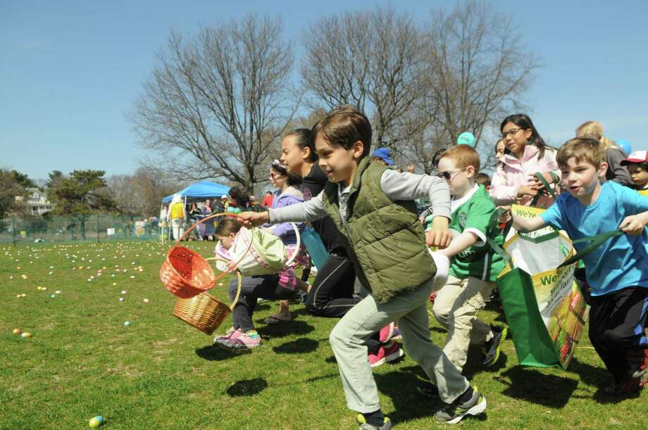 Living Hope Community Church at West End Avenue in Old Greenwich will hold its annual Easter Egg Hunt at 10 a.m. Saturday. Kids can have a blast searching for and collecting 3,000 eggs, then enjoy arts and crafts, a petting zoo and refreshments. For more info, call 203-637-3669 or go to www.livinghopect.org. Photo: File / Hearst Connecticut Media / Stamford Advocate Freelance