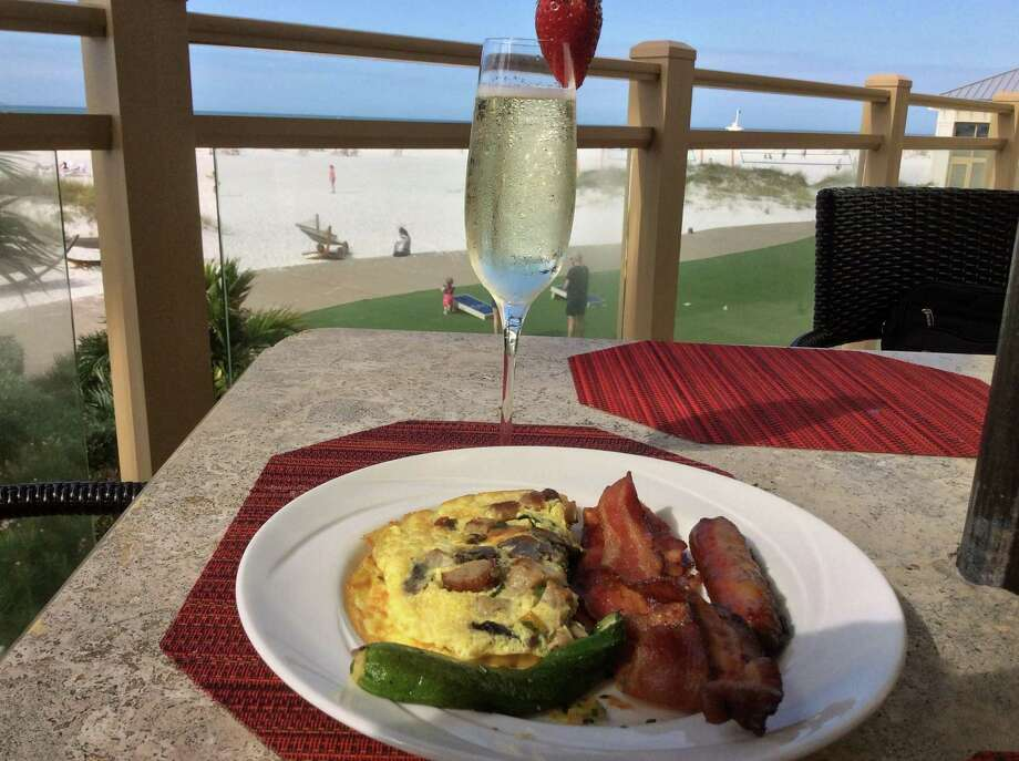 Sunday Brunch is a feast at Caretta on the Gulf at the Sandpearl Resort. BRUNCH TIME Who said all the fun on the Fourth has to take place at night? Take an easy morning and have a brunch by the ocean, or even your pool. If you're of drinking age, you can treat yourself to a boozy brunch by the beach.  If brunching at a restaurant, call ahead for their holiday hours and to make reservations . Photo: Stephen Fries / For Hearst Connecticut Media
