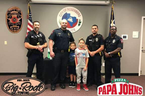 The Rosenberg Police Department hosted a youth and his brother on Thursday, April 11. The youth was previously captured on video on April 4 wherein he watched as a brazen thief stole the youth's bicycle as he stood by and watched.