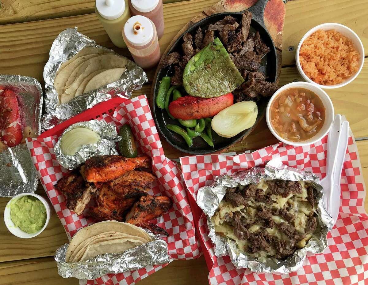 A selection of menu items from Pollos El Gallo