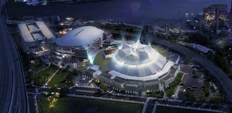 An artist's rendering of the new Harbor Yard Amphitheater, a new concert venue currently under construction in Bridgeport, Conn. April 11, 2019. Photo: Contributed Photo / Contributed Photo / Connecticut Post Contributed