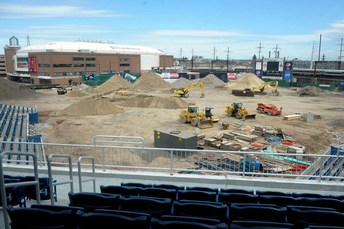 The former Harbor Yard baseball stadium is currently being renoved into the new Harbor Yard Amphitheater, a concert venue in Bridgeport, Conn. April 11, 2019.