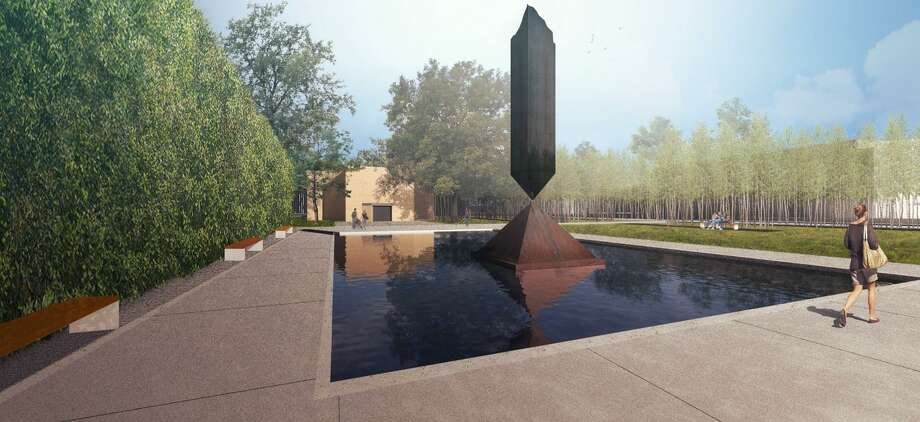 A rendering of the Rothko Chapel's renovated plaza, which will be shaded by oaks and river birches that help visitors' eyes adjust to the chapel's low light levels as they approach. Photo: Architecture Research Office / Architecture Research Office
