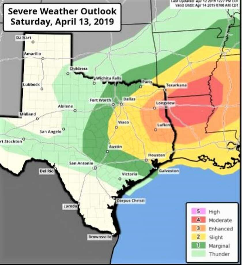 Strong to severe storms are set to move into Houston ahead of a cold front early Saturday, so plan your weekend accordingly. >>> See more on Saturday's weather ... Photo: Courtesy