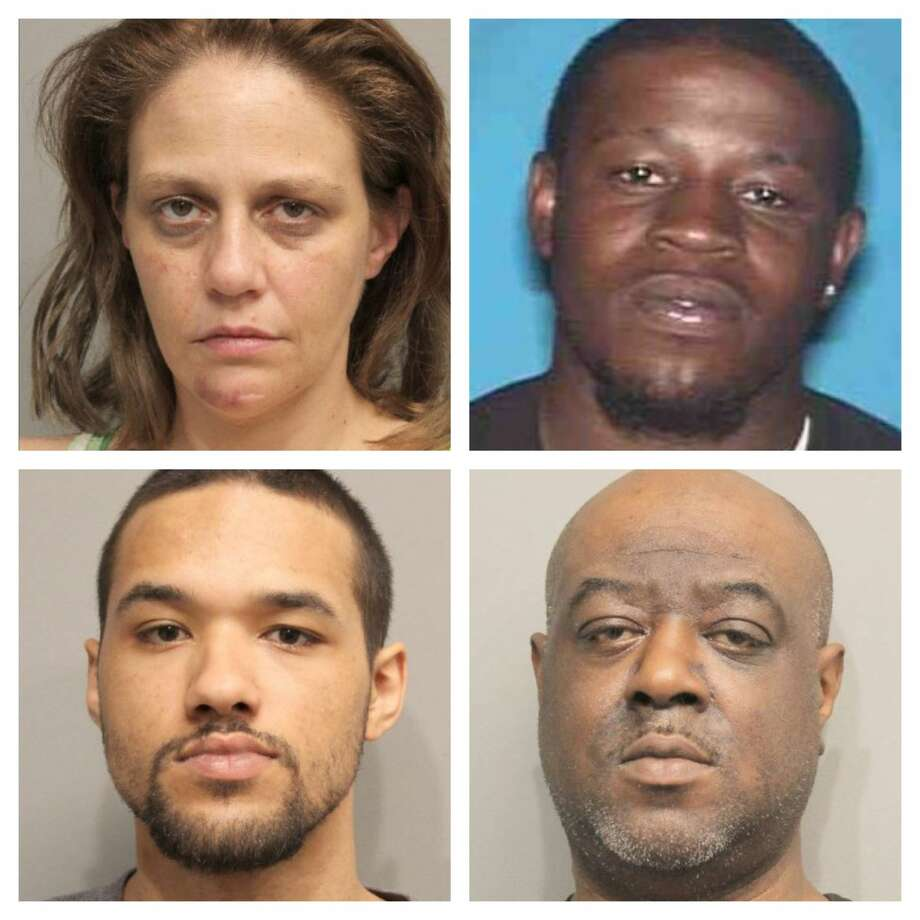Johnny Johnson, Johnny Johnson Jr., Elisa Terrell, and Larry Gertman were arrested and charged April 11. Photo: Harris County Constable Precinct 4