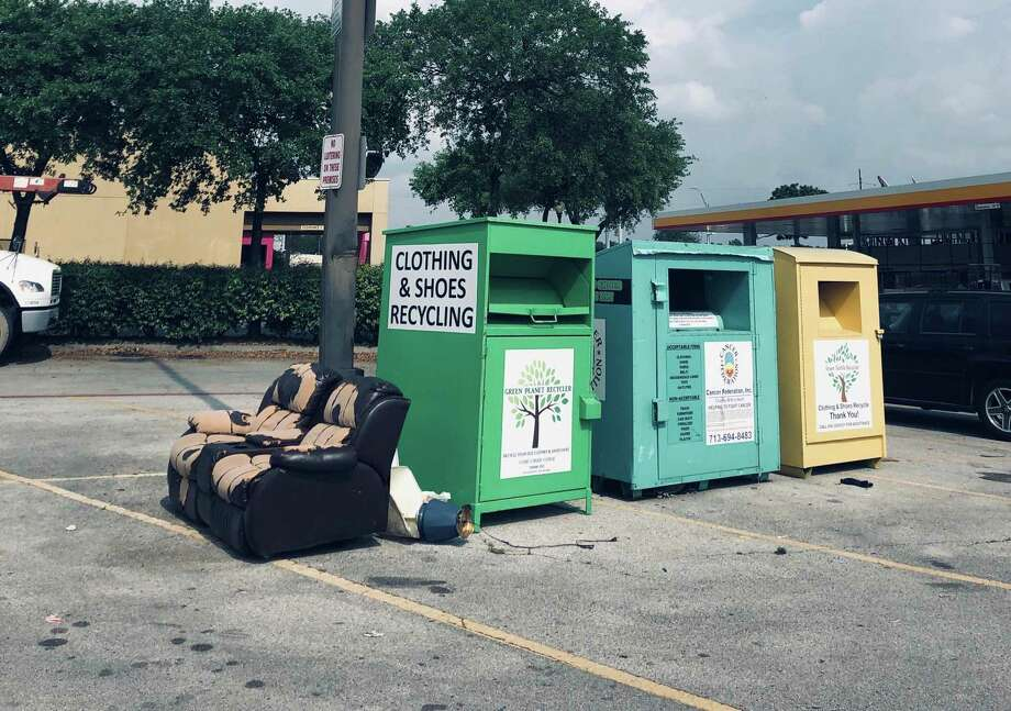 The city of Conroe is considering banning small donation boxes that have become unsightly around the city. Photo: Courtesy Photo