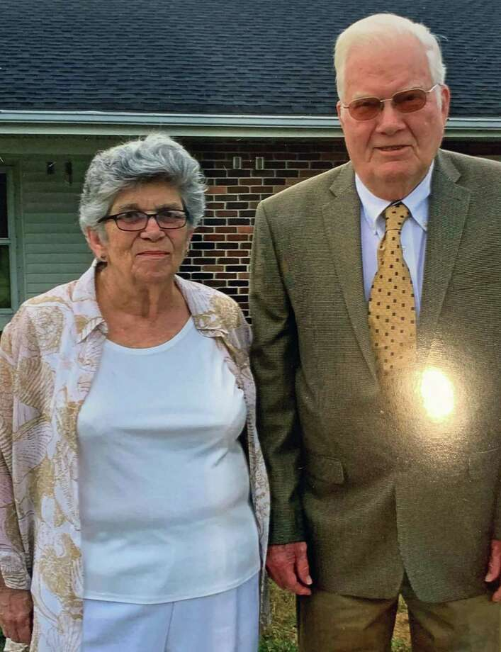 William Bennet and Marie (Moylan) Bennet first met at a baseball game at Belltown Field in Stamford in the spring of 1959. They married on April 8, 1959. This year they celebrate their 60th wedding anniversary. Photo: Contributed Photo / Contributed Photo / Connecticut Post Contributed
