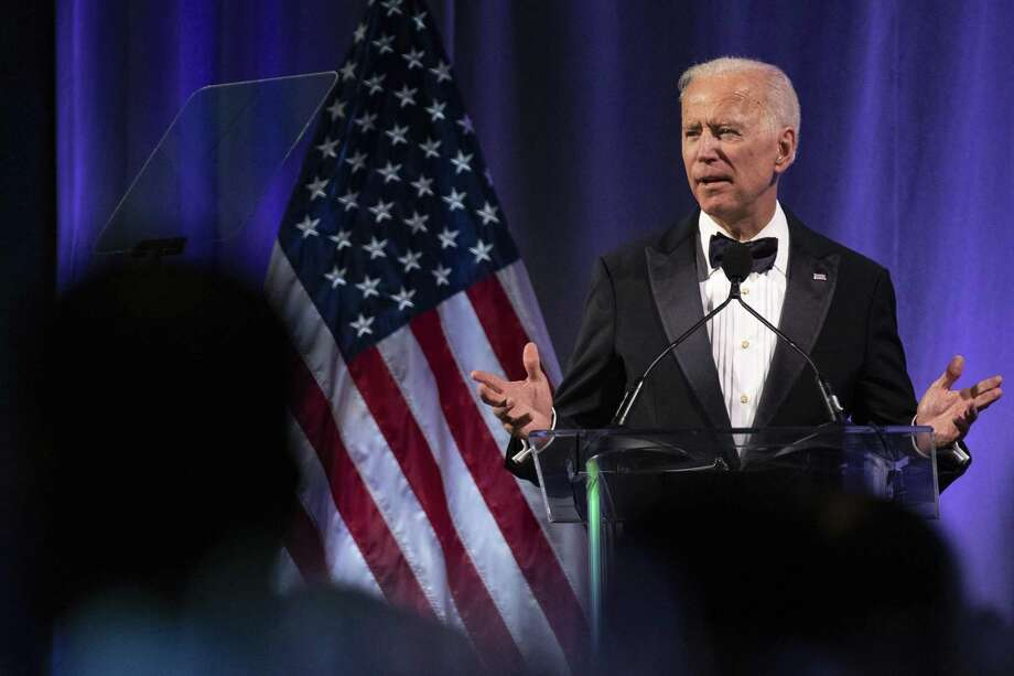 Former U.S. Vice President Joe Biden delivers remarks during the National Minority Quality Forum on April 9, 2019 in Washington D.C. Biden's over-familiar touching has attracted criticism. Photo: Alex Edelman /Getty Images / 2019 Getty Images