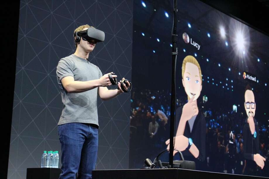 "Facebook said it accidentally hid bizarre and ""inappropriate"" messages inside ""tens of thousands"" of virtual-reality controllers, including ""Big Brother is Watching"" and ""The Masons Were Here.""  Photo: GLENN CHAPMAN/AFP/Getty Images"