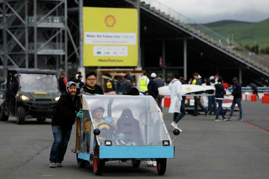 Students at James E. Taylor High School competed April 3-6, 2019, at the Shell Eco-Marathon Americas, held at the Sonoma Raceway near San Francisco. Photo: Shell, FRE / AP / AP Images for Shell