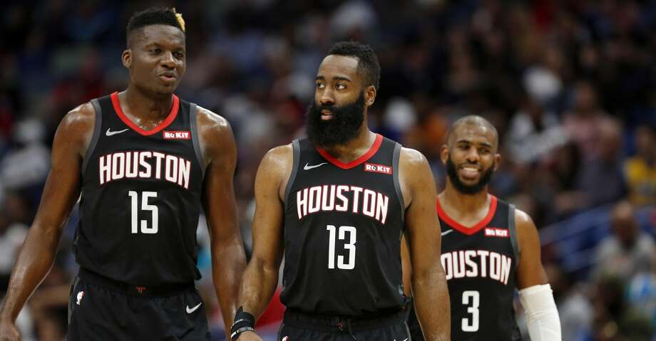 PHOTOS: Rockets game-by-game Houston Rockets center Clint Capela (15) Houston Rockets guard James Harden (13) and Houston Rockets guard Chris Paul (3) during the second half of an NBA basketball game in New Orleans, Sunday, March 24, 2019. The Rockets won 113-90. (AP Photo/Tyler Kaufman) Browse through the photos to see how the Rockets fared in each game this season. Photo: Tyler Kaufman/Associated Press