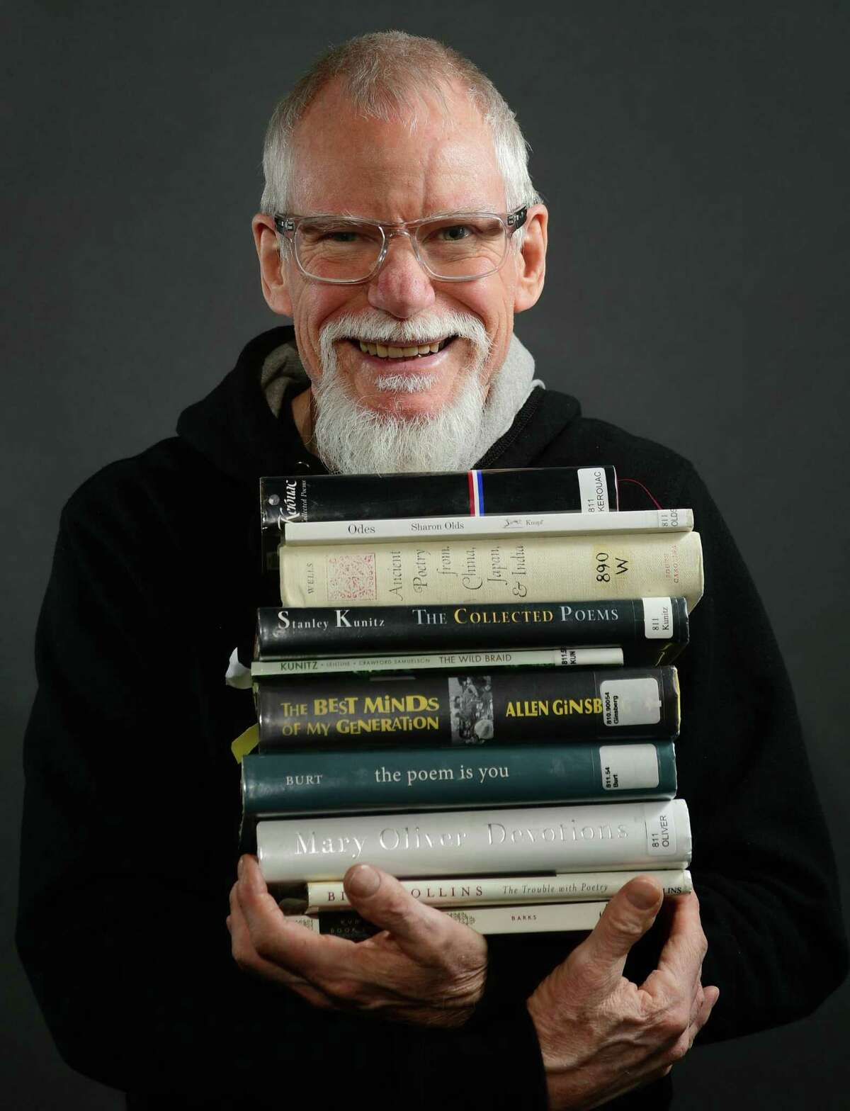 The new Norwalk Poet Laureate, William Hayden, at Hearst Connecticut Media offices Friday, April 12, 2019, in Norwalk, Conn.