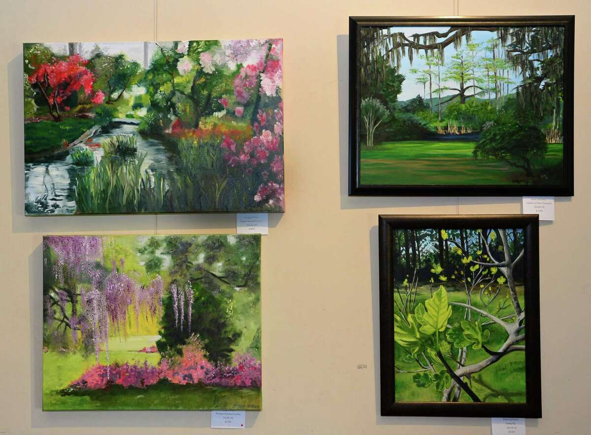 The new juried exhibit at Lockwood Matthews Mansion, Historic Grounds & Modern Gardens, Thursday April 11, 2019, features the work of 18 regional artists including Gregory Ziebell and Kara LaFrance on the theme of historic grounds and modern gardens and will run through June 23 at the Mansion in Norwalk, Conn.