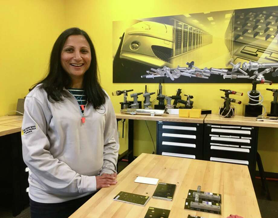 Rina Patel, manager of the Stanley Black & Decker factory in Danbury, part of the Engineered Fastening business, is working closely on the New Britain-based company's Manufactory 4.0 program, including a center of excellence in downtown Hartford. Photo: Dan Haar/Hearst Connecticut Media