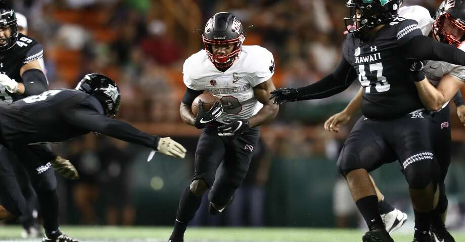 PHOTOS: Free agents Lexington Thomas #3 of the UNLV Running Rebels runs the ball during the first quarter of the game against the Hawaii Rainbow Warriors at Aloha Stadium on November 17, 2018 in Honolulu, Hawaii. (Photo by Darryl Oumi/Getty Images) Browse through the photos to see the best available free agents in the NFL this offseason. Photo: Darryl Oumi/Getty Images