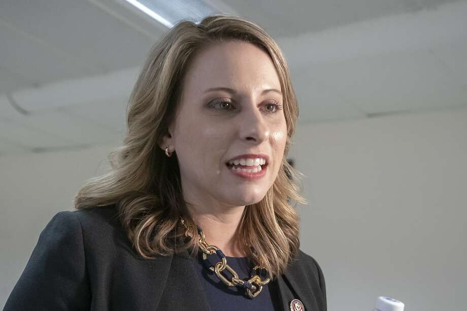 Rep. Katie Hill, D-Calif., is seen on Capitol Hill in Washington, Wednesday, April 3, 2019.  (AP Photo/J. Scott Applewhite) Photo: J. Scott Applewhite / Associated Press