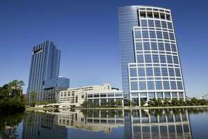 The Anadarko towers. The future of Anardarko's headaquarters in The Woodlands is up in the air following the company's acquisition by Occidental Petroleum.