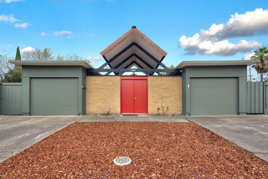 A beautiful A-frame Eichler, this Palo Alto home asks $2.598M-- and will likely get that or more. Photo: Circle Visions