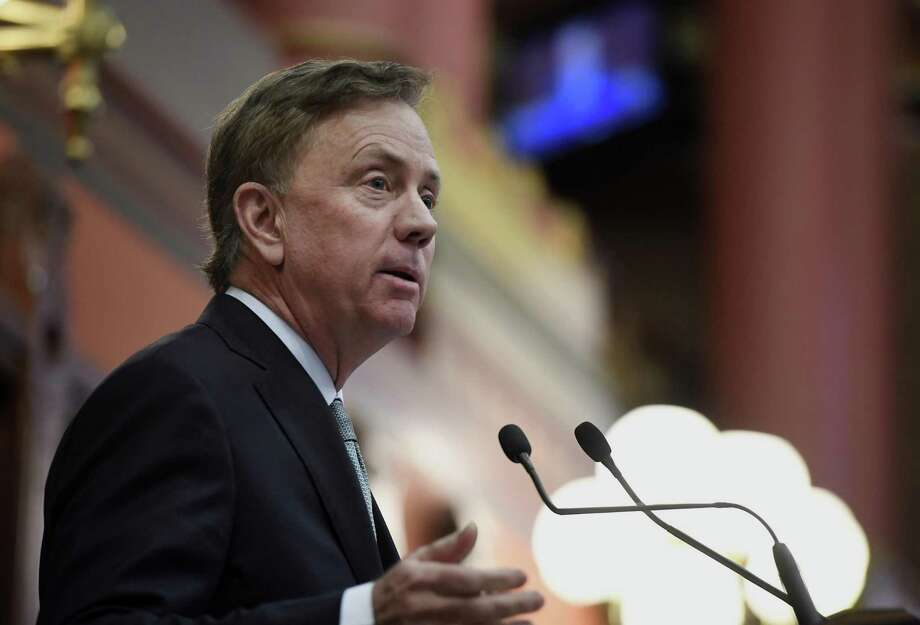 Connecticut Gov. Ned Lamont delivers his budget address at the State Capitol in Hartford, Feb. 20. Photo: Jessica Hill / Associated Press / Copyright 2019 The Associated Press. All rights reserved