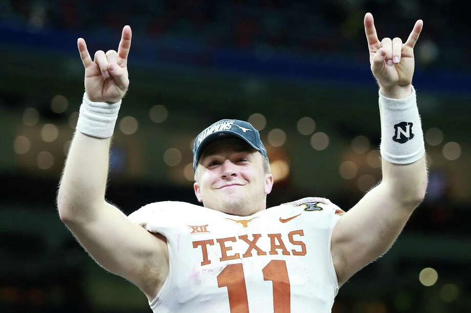 By all accounts, junior quarterback Sam Ehlinger hasn't been hindered by the shoulder injury he played through during the second half of last year, when he led Texas to a Sugar Bowl win. Photo: Sean Gardner / Getty Images / 2019 Getty Images