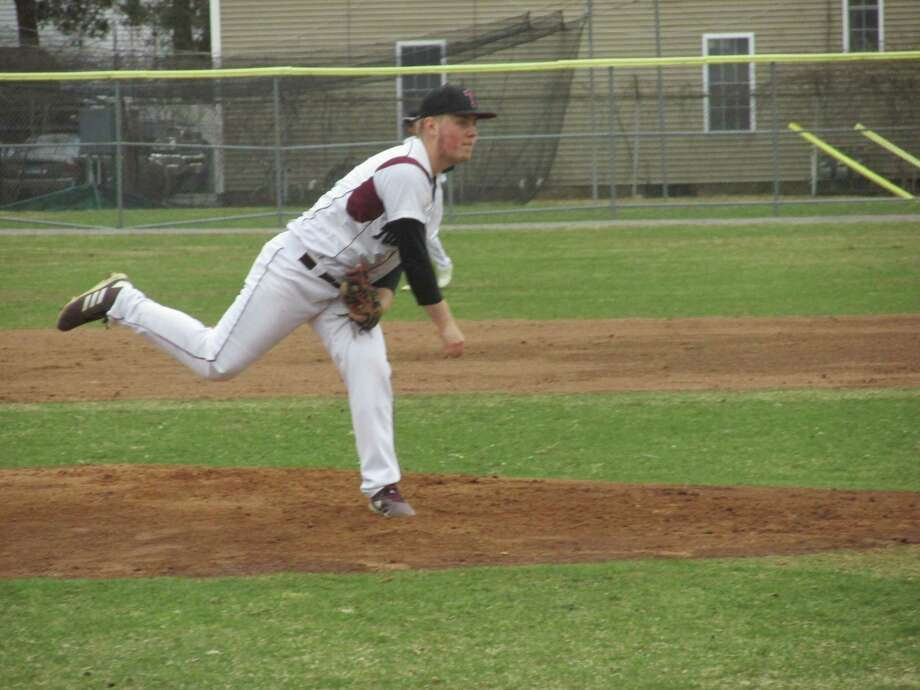 Torrington starter Kyle Banche pitched a strong six innings against last year's Class M runners-up Wolcott Friday afternoon at Fuessenich Park in Torrington. Photo: Peter Wallace / For Hearst Connecticut Media