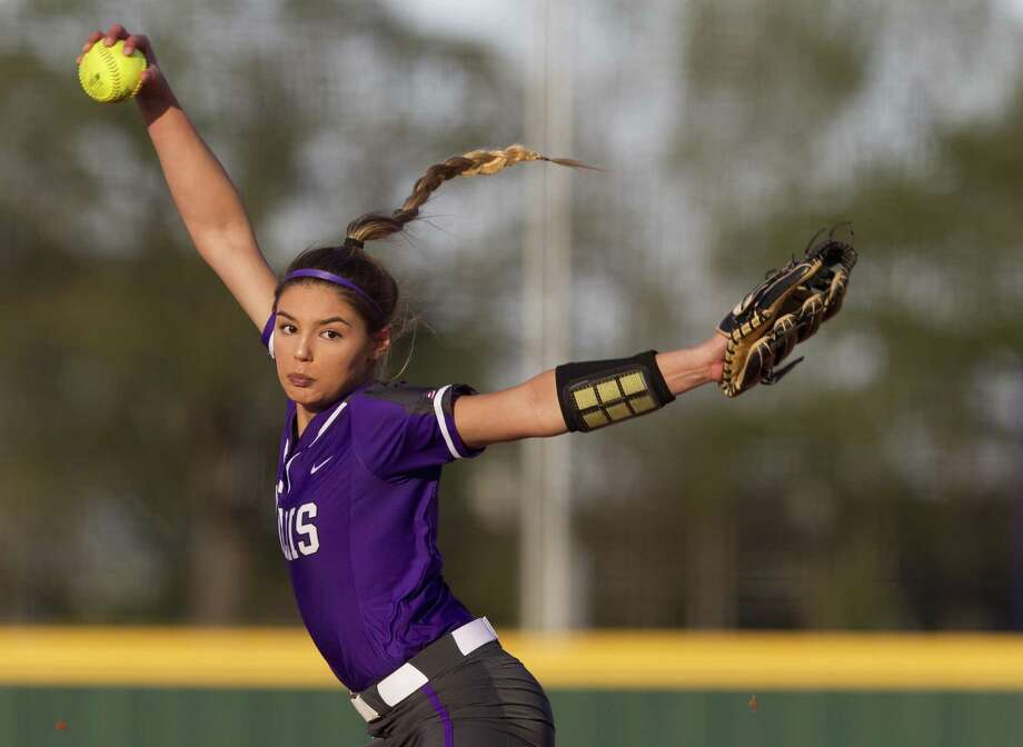 In this file photo, Willis starting pitcher Ashely Vallejo (2) throws during the first inning of a District 20-5A high school softball game at Lake Creek High School, Thursday, March 14, 2019, in Montgomery. Photo: Jason Fochtman, Houston Chronicle / Staff Photographer / © 2019 Houston Chronicle