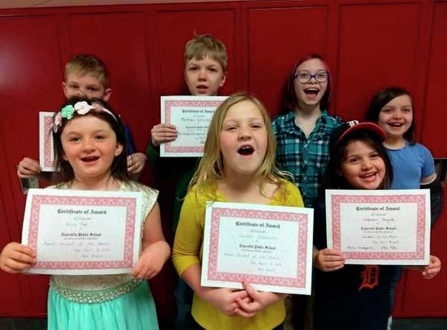 Caseville Schools recently announced their Students of the Month for March. Elementary school Students of the month are Kindergarten -- Chaselynn Krugielki; Grade 1 -- Kendall Hackbarth; Grade 2 -- Bella Popp; Grade 3 -- Destiny Hurley and Jordan Wutzke; Grade 4 -- Matthew Schubach; and Grade 5 -- Logan Feltner. (Submitted Photo)