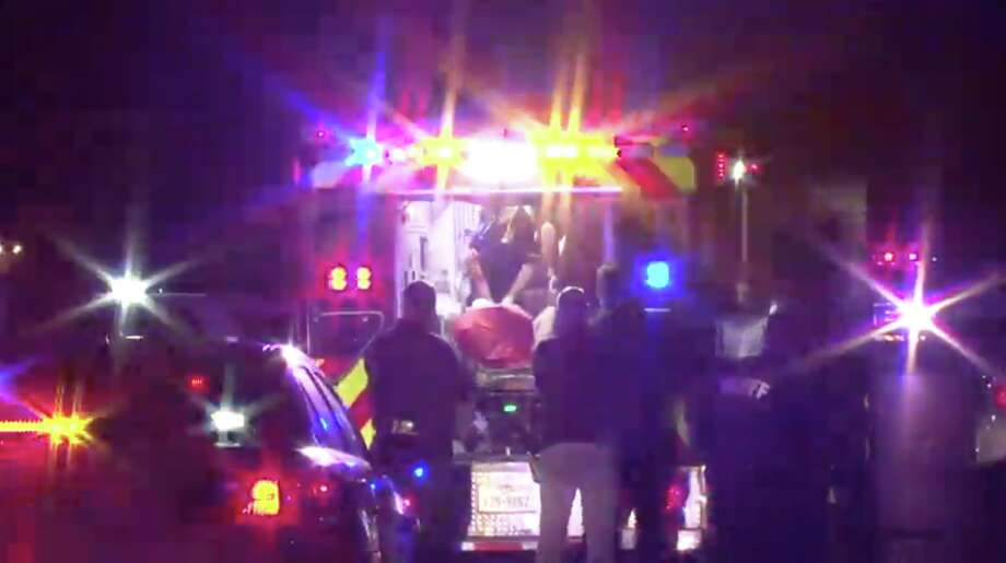 Officials are looking for suspects in a shooting that left two people injured in northwest Harris County. Photo: Metro Video
