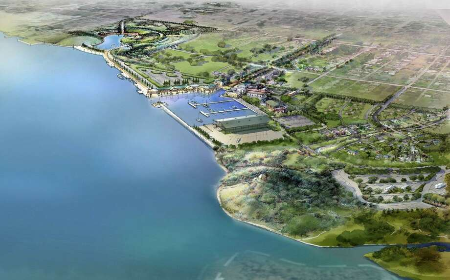 The master plan for the development plans along Port Neches' riverfront include Central Park, a retail village, a marina, a Neo-Traditional Neighborhood  and a nature park.  Image provided by the City of Port Neches.