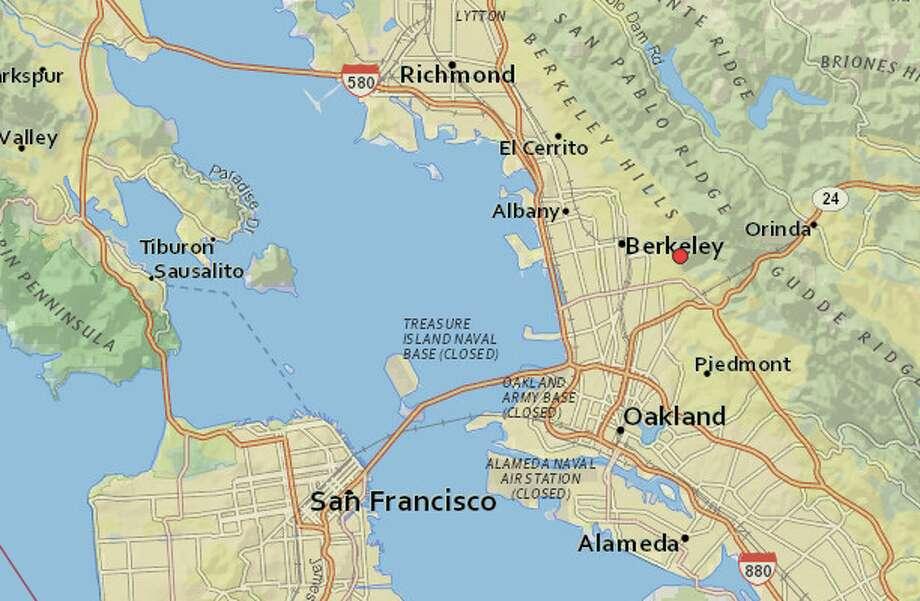 A magnitude 2.9 earthquake struck near Berkeley on Saturday morning. Photo: USGS