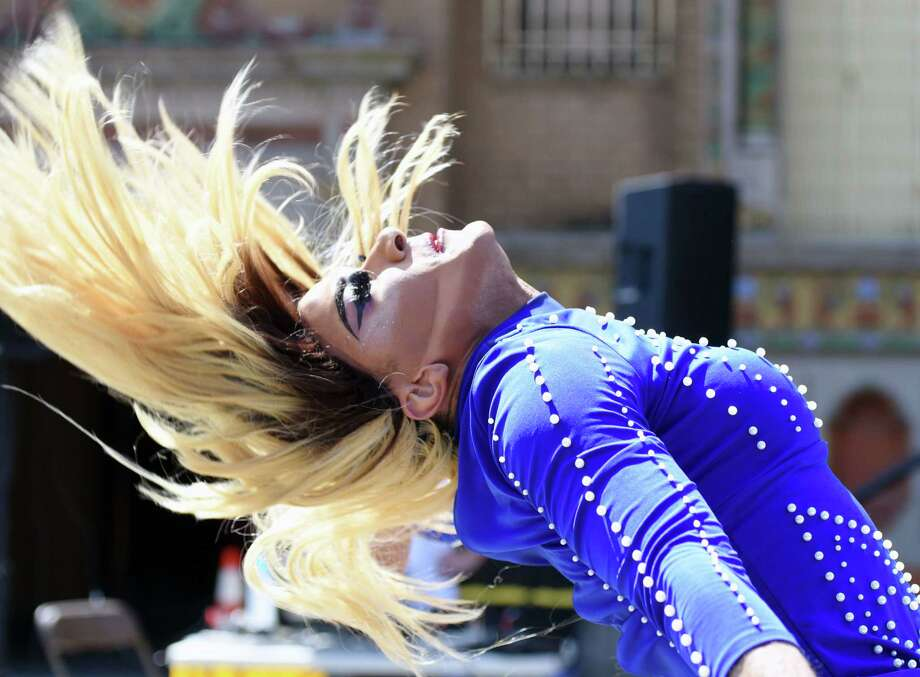 Klo Armani performs during the AIDS Walk & Festival on Saturday, April 13, 2019 at Washington Park in Albany, NY. (Phoebe Sheehan/Times Union) Photo: Phoebe Sheehan / 20046665A